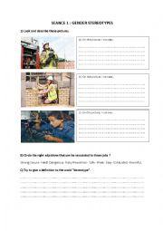 English Worksheet: gender stereotypes