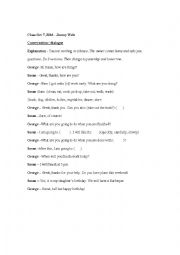 English Worksheet: Cleaning a House Dialogue