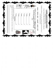 English Worksheet: HALLOWEEN SONG / Fill in exercise + Halloween vocabulary