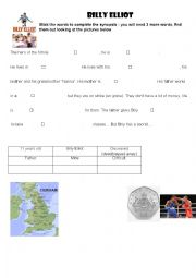 English Worksheet: Billy Elliot anticipation