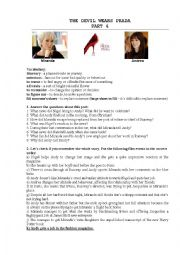 english worksheets the devil wears prada movie part 4. Black Bedroom Furniture Sets. Home Design Ideas