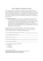 12 Days of Christmas (History and Worksheet)