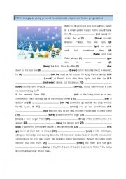 English Worksheet: Present tense simple and present tense progressive (2)