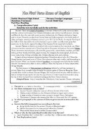 English Worksheet: Ancient china