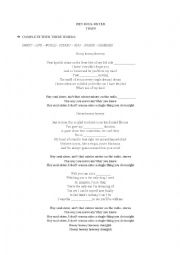 English Worksheet: Song: Hey Soul Sister