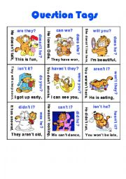 English Worksheet: Question Tags - Puzzle