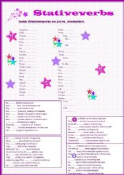 Stative verbs exercises