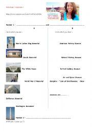 English Worksheet: My top 5 things in Washington DC