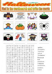 Halloween- wordsearch