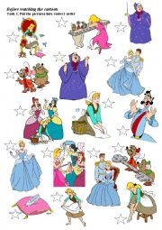 English Worksheet: Cinderella (disney cartoon)