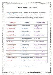 English Worksheet: speaking worksheet story telling