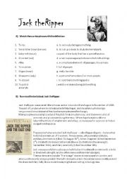 English Worksheet: Jack The Ripper