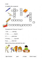 English Worksheet: review for tunisian 6th grade