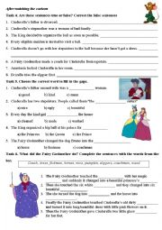 English Worksheet: Cinderella (disney cartoon) part 3