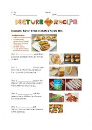 English Worksheet: Practice Sequencing: Steps of Recipes