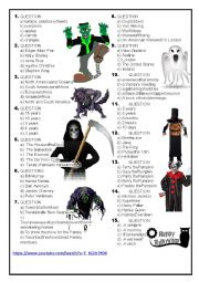 Halloween Quiz - 2016