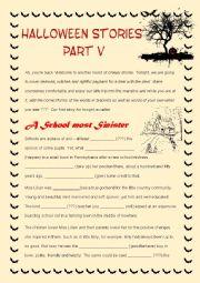 English Worksheet: Halloween Stories V - Mixed Bag Exercise