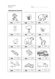 English Worksheet: big - small