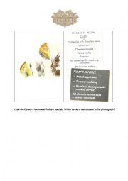 English Worksheet: Tourism - Desserts