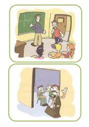 English Worksheet: Classroom language flashcards