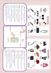 English Worksheet: Accessories