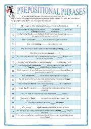 GRAMMAR REVISION - Prepositional Phrases 1