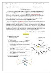 English Worksheet: counterfeiting