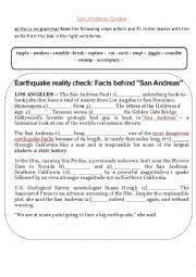 San Andreas Quake Movie Worksheet Esl Worksheet By Ceciliaq