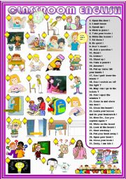 English Worksheet: Classroom English :  read  and match