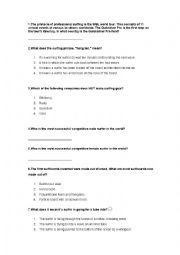 English Worksheet: Surfing Trivia