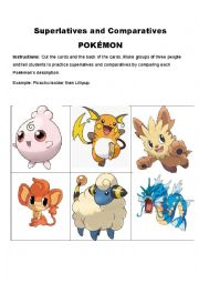 POKEMON: COMPARATIVE AND SUPERLATIVE CARDS