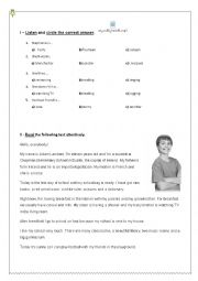 English Worksheet: Diagnostic /Placement Test 6th grade