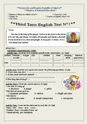 English Worksheet: The lion is the king of the jungle