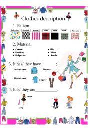 clothes description