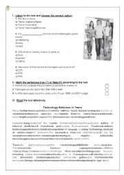 English Worksheet: Diagnostic / Placement test 8th grade