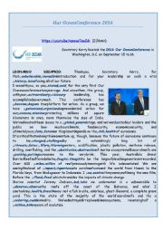 English Worksheet:  Leonardo DiCaprio´s Speech at ´Our Ocean´ Conference (on 25th/09/2016)