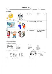 English Worksheet: Vocabulary and adverbs of place