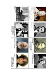 English worksheet: Famous personalities - practise how to read dates in English