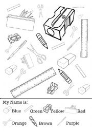 english worksheets school stationery school objects. Black Bedroom Furniture Sets. Home Design Ideas