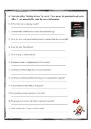 English Worksheet: Waiting for love video activity (Yes, No questions)