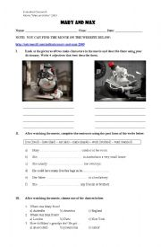 english worksheets mary and max movie classwork. Black Bedroom Furniture Sets. Home Design Ideas
