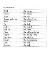 English Worksheet: cleaning