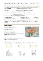 English Worksheet: Revision of verb tenses.