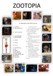 english worksheets zootopia updated. Black Bedroom Furniture Sets. Home Design Ideas