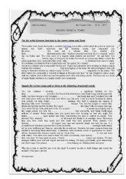 revising tenses activities
