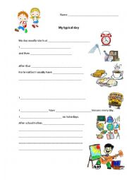 English Worksheet: My typical day