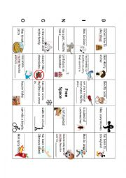 English Worksheet: Getting to know your classmates - Bingo Worksheet (5X5)