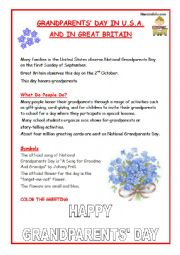 GRANDPARENTS´ DAY NEXT OCTOBER 2nd