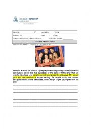 English Worksheet: Friends series writing activity