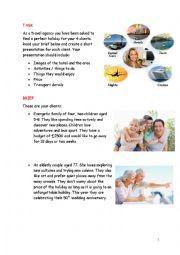English Worksheet: Travel agency